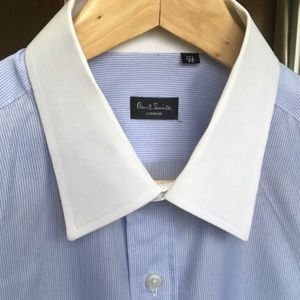 Paul Smith White Collar Dress Shirt Light Cotton